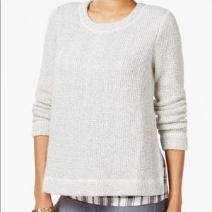 Sanctuary one-n-done Layered Sweater Small